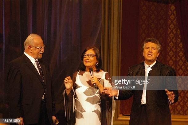 Konzertveranstalter Fritz Rau Nana Mouskouri Moderator Michael Schanze ARDShow Herzlichen Glückwunsch die M I C A E L S C H A N Z E Jubiläumsgala...