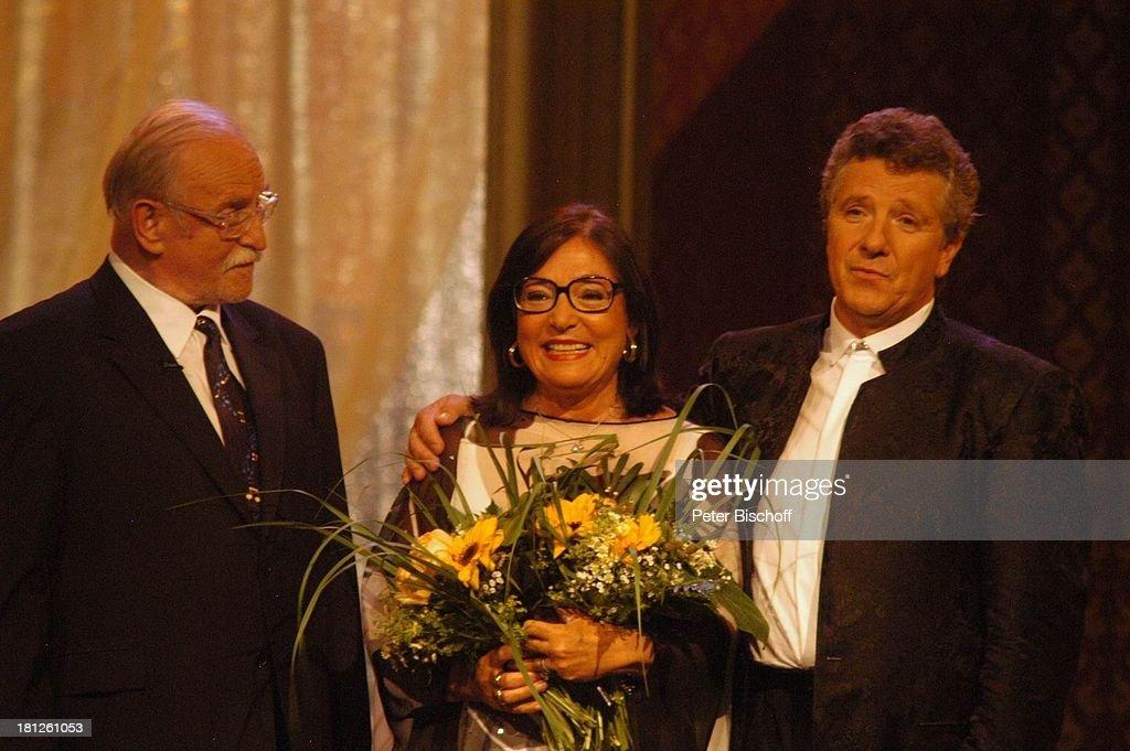 Konzertveranstalter Fritz Rau, Nana Mouskouri, Moderator Michael : Fotografía de noticias