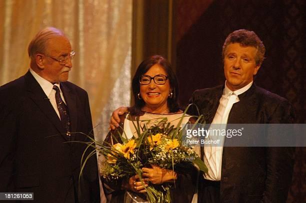 Konzertveranstalter Fritz Rau Nana Mouskouri Moderator Michael Schanze ARDShow 'Herzlichen Glückwunsch die M I C A E L S C H A N Z E Jubiläumsgala'...