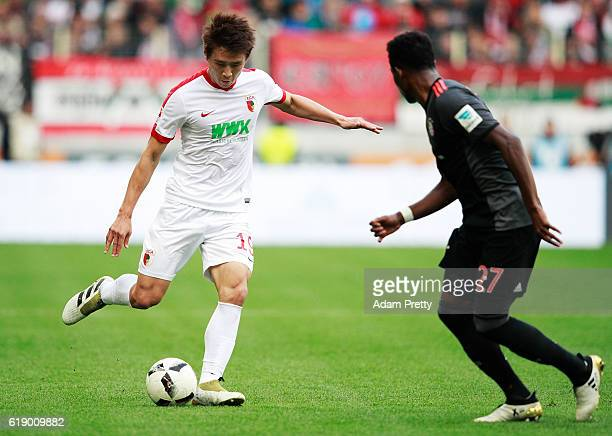 Koo JaCheol of Augsburg in action during the Bundesliga match between FC Augsburg and Bayern Muenchen at WWK Arena on October 29 2016 in Augsburg...