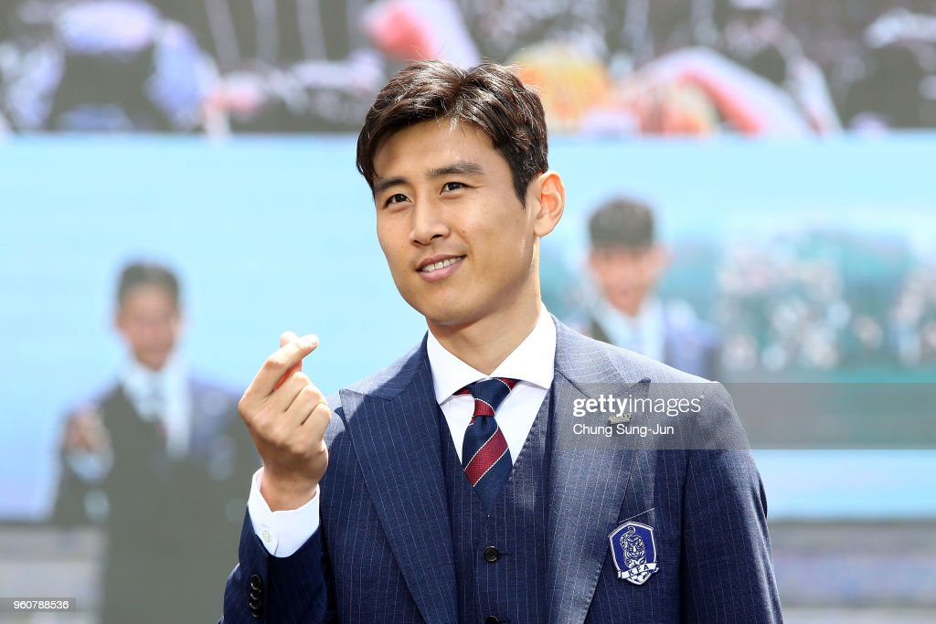 Koo Ja-Cheol of South Korea attends the sending off ceremony for FIFA World Cup Russia 2018 at Seoul City Hall on May 21, 2018 in Seoul, South Korea.