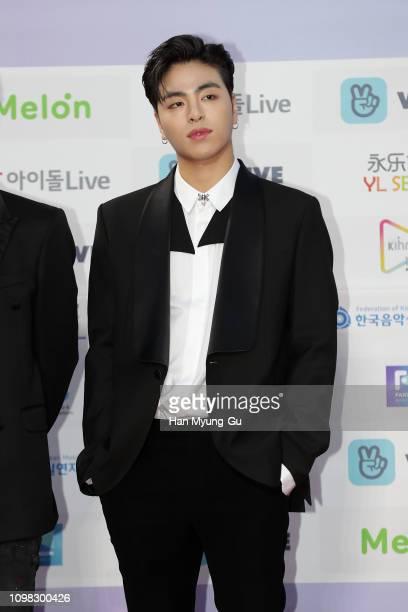 Koo Jun-Hoe of boy band iKON attends the 8th Gaon Chart K-Pop Awards on January 23, 2019 in Seoul, South Korea.