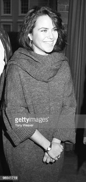 Koo Stark actress pictured smiling 2nd December 1984