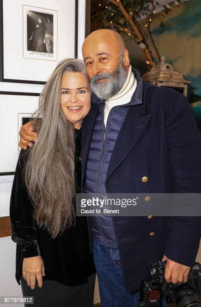 Koo Stark and Richard Young attend a private view of Koo Stark's exhibition 'Kintsugi Portraits' at Galleria San Lorenzo on November 23 2017 in...