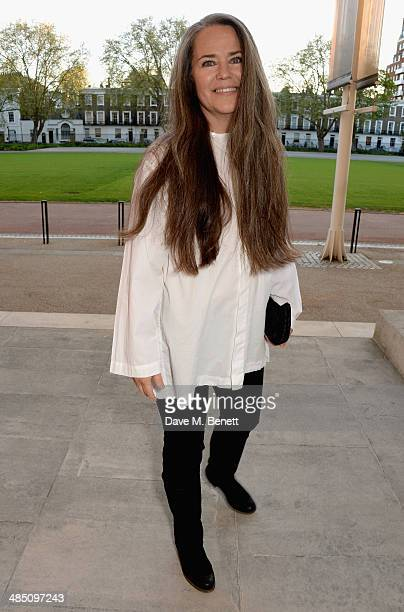 Koo Stark attends a private view of The Motion Photography Prize exhibition at the Saatchi Gallery on April 16 2014 in London England