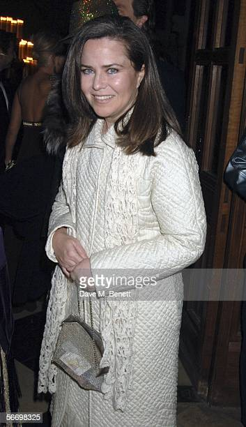 Koo Stark attends Andy and Patti Wongs Chinese New Year Party at the Royal Courts Of Justice on January 28 2006 in London England The dress code for...