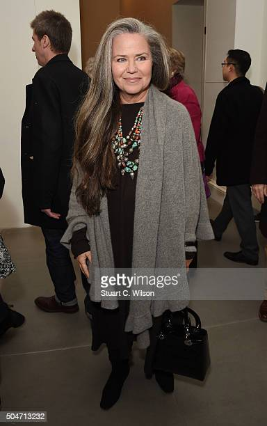 Koo Stark attends Saatchi's first ever all female show to mark the Gallery's 30th Anniversary at the Saatchi Gallery on January 12 2016 in London...