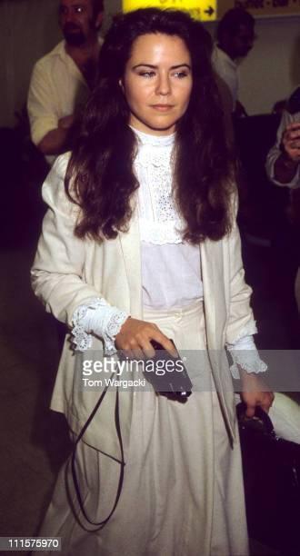 Koo Stark during Koo Stark at Heathrow Airport June 16 1983 in London Great Britain