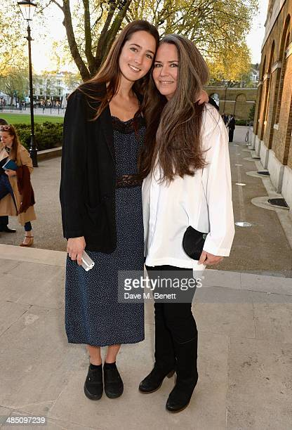 Koo Stark with her daughter Tatiana Stark attend a private view of The Motion Photography Prize exhibition at the Saatchi Gallery on April 16 2014 in...