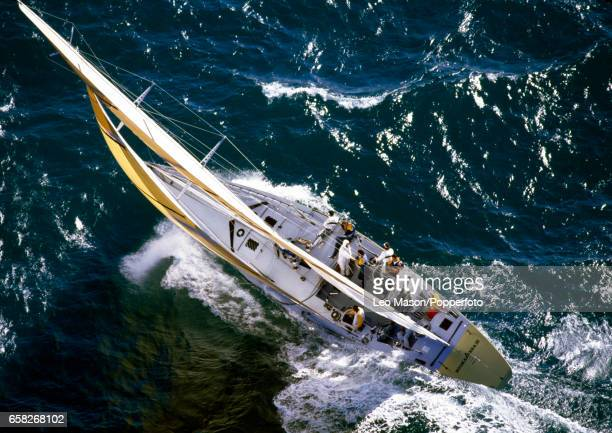 Kookaburra II off Fremantle Australia during the Defender Selection Series for the America's Cup circa January 1987