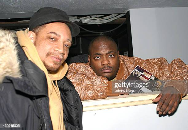 Kool DJ Red Alert and DJ Mister Cee during The 8th Annual Mix Tape Awards at Speeed in New York City New York United States