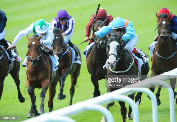 Kool Kompany and Fran Berry win the GAIN Railway Stakes during day two the Dubai Duty Free Irish Derby Festival at Curragh Racecourse Co Kildare...