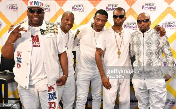 Kool Moe Dee Markell Riley Keith Sweat Agil Davidson and Teddy Riley attend the 2018 Essence Festival Day 3 at Louisiana Superdome on July 8 2018 in...