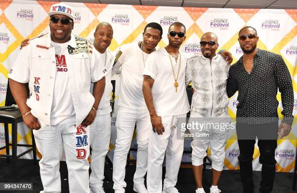Kool Moe Dee Markell Riley Keith Sweat Agil Davidson Teddy Riley and Tank attend the 2018 Essence Festival Day 3 at Louisiana Superdome on July 8...