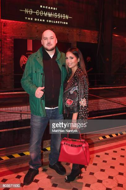 Kool Savas and his wife Maria Yurderi attend Bacardi X The Dean Collection Present No Commission Berlin on June 29 2017 in Berlin Germany