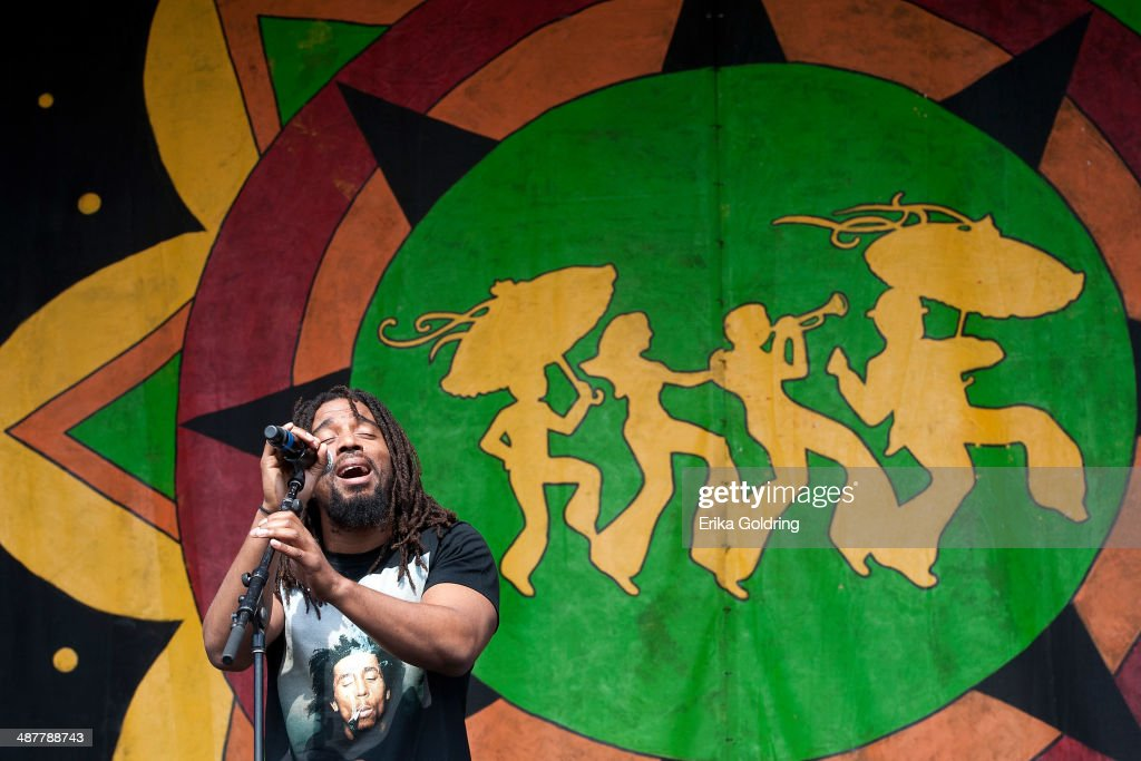Koolant Brown of The Wailers performs during the 2014 New Orleans Jazz & Heritage Festival at Fair Grounds Race Course on May 1, 2014 in New Orleans, Louisiana.