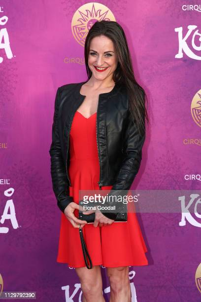 Kooza aerial artist MarieEve Bisson attends opening night of Cirque du Soleil KOOZA on February 15 2019 in Auckland New Zealand