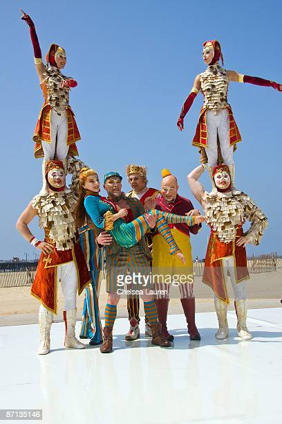Kooza Performers at the Cirque Du Soleil Exclusive Preview at the Santa Monica Pier on May 12 2009 in Santa Monica California