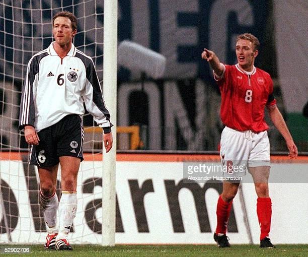 LAENDERSPIEL 2000 Kopenhagen DAENEMARK DEUTSCHLAND 21 Nach dem TOR zum 20 von Dennis ROMMEDAHL/DEN Thomas LINKE/GER