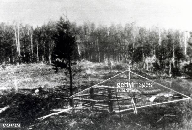 Koptyaki forest near Yekaterinburg where the bodies of Tsar Nicholas II and his family were buried after all of them were killed by the Bolsheviks...