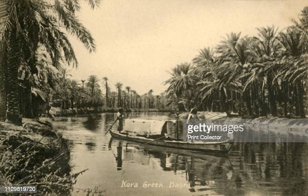 Kora Creek, Basra', circa 1918-circa 1939. From an album of postcards. Artist Unknown.