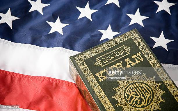 Koran and American Flag