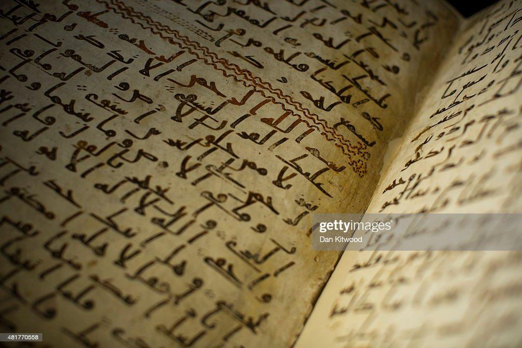World's Oldest Fragments Of The Koran Found By University of Birmingham : News Photo