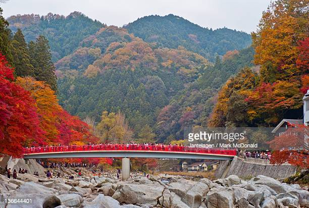 korankei gorge in aichi prefecture - aichi prefecture stock pictures, royalty-free photos & images