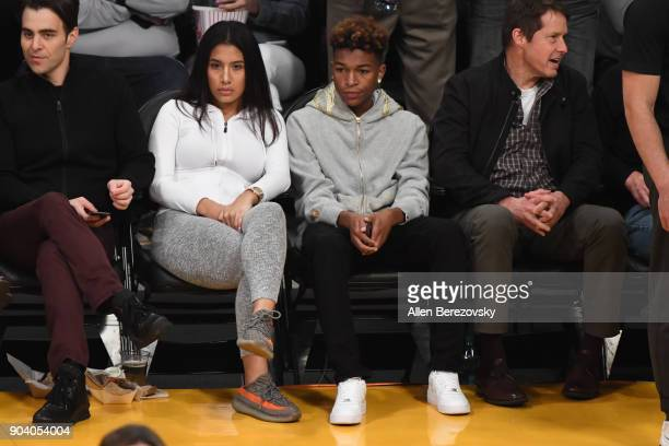 Koraun Mayweather attends a basketball game between the Los Angeles Lakers and the San Antonio Spurs at Staples Center on January 11 2018 in Los...