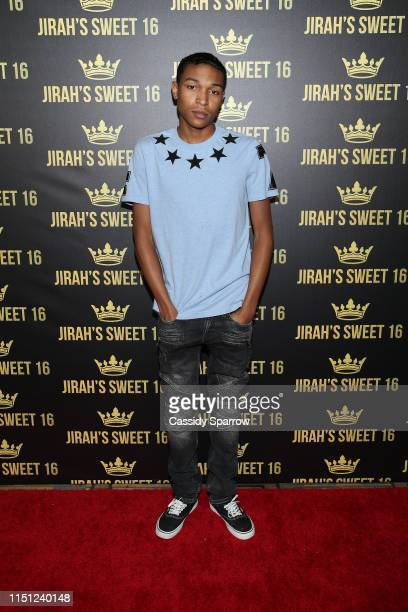 Koraun Mayweather attends Jirah Mayweather's Sweet 16 Birthday Party at Hyatt In Valencia on June 20 2019 in Valencia California