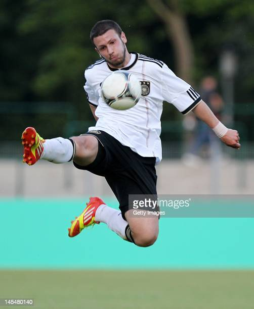 Koray Kacinoglu of Germany in action during the International Friendly match between Germany and Russia at the Stadion am Bad on May 22, 2012 in...