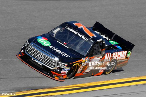 Korbin Forrister All Out Motorsports Tru Clear Global Toyota Tundra during practice for the NextEra Energy Resources 250 NASCAR Camping World Truck...