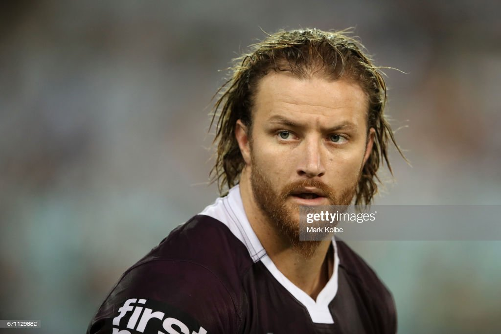 Korbin Sims of the Broncos watches on during the round eight NRL match between the South Sydney Rabbitohs and the Brisbane Broncos at ANZ Stadium on April 21, 2017 in Sydney, Australia.