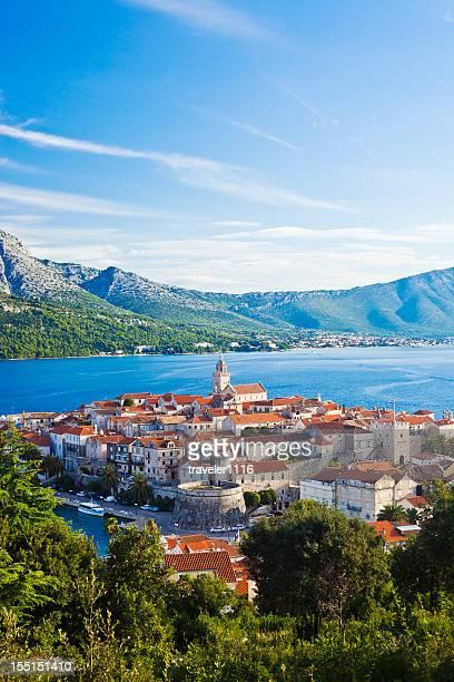 isola di curzola, croazia - croazia foto e immagini stock