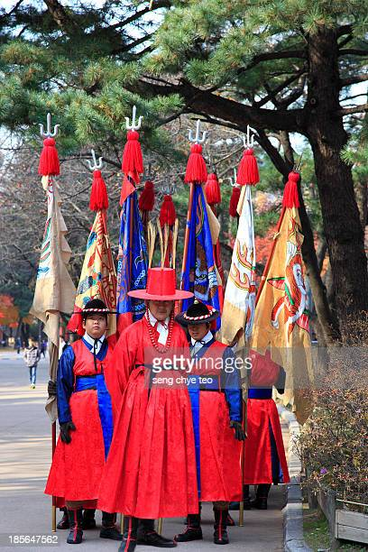 Korea culture - Seoul beautiful attracted by the autumn air blend with traditional korea cultural outfit
