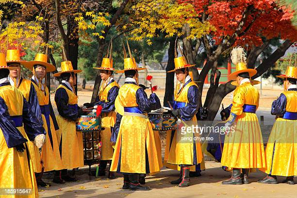 Korea culture - Seoul colorful...... Looking at the fresh autumn leave blend beautifully with Korean traditional cultural outfit is a sure pleasure .