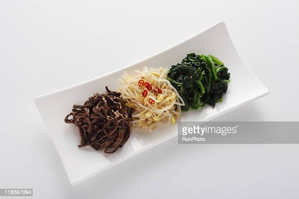 korea food,namul,vegetable side dishes - 韓国料理 ストックフォトと画像