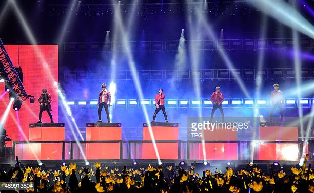 Korea idol group Bigbang at their concert on 24th September 2015 in Taipei Taiwan China
