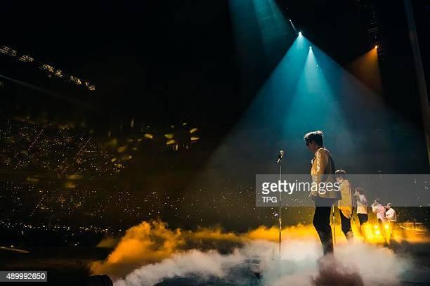 Korea idol group Bigbang at their concert on 24th September 2015 in Taipei Taiwan China