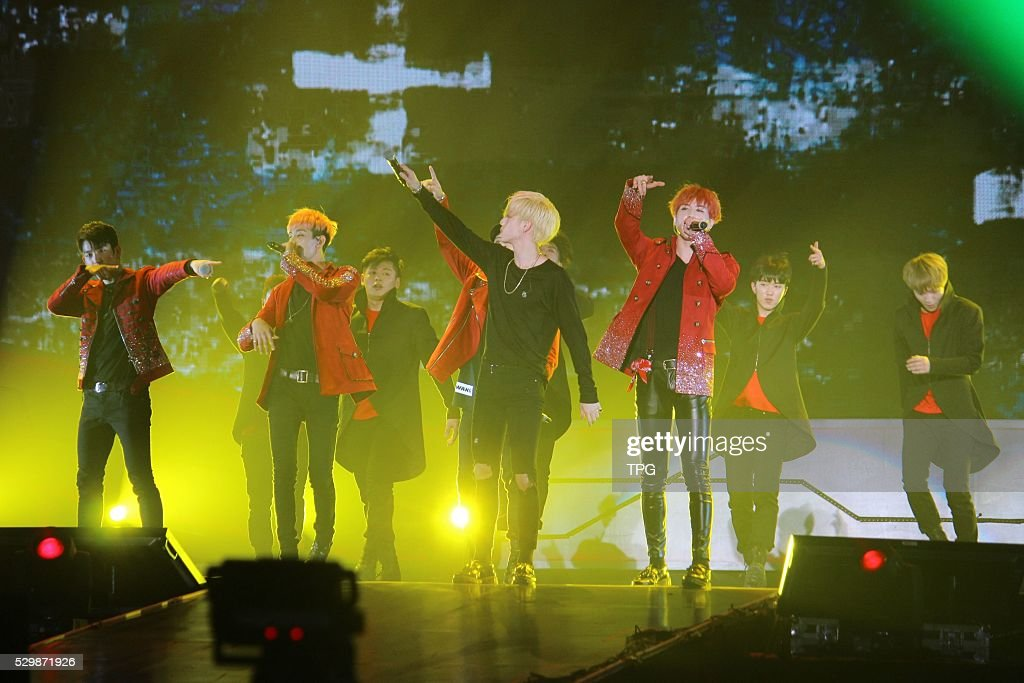 Korea idol group GOT7 holds concert on 08th May, 2016 in Shanghai, China.
