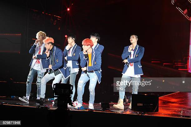 Korea idol group GOT7 holds concert on 08th May 2016 in Shanghai China