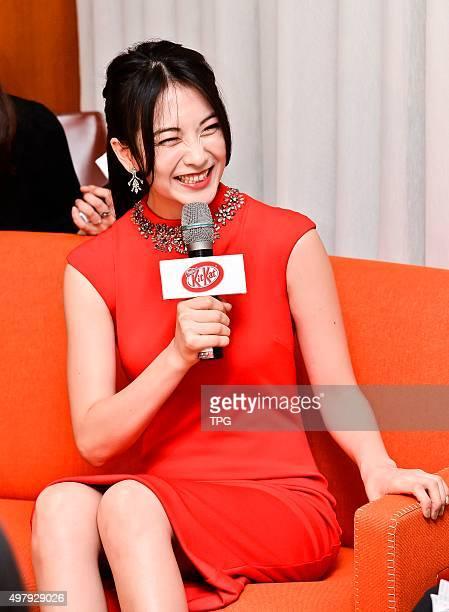 Korea idol group KARA former member Kang Ji Young promotes for KIT KAT chocolate on 19th November, 2015 in Taipei, Taiwan, China.