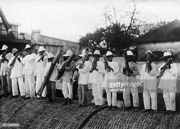 Korea Korean musicians with bamboo instruments probably in the 1910s