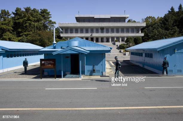 KOR Korea Panmumjom Border visit at the JSA near the south korean village of Panmumjom the border between DPRK and South Korea