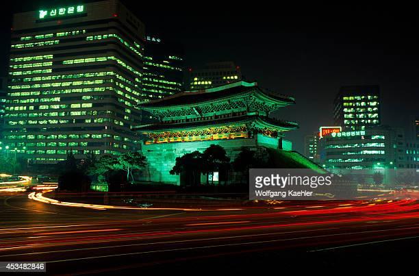 Korea Seoul Namdaemun At Night