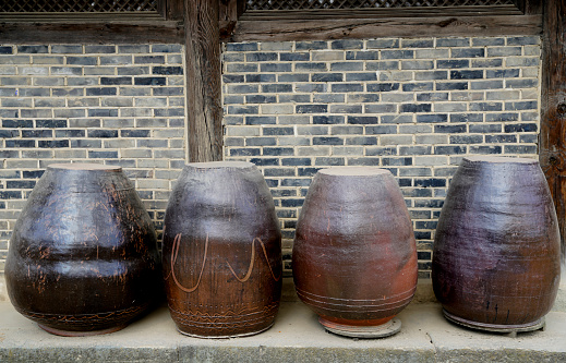 Korea traditional food ingredient pot, Jangdokdae - gettyimageskorea