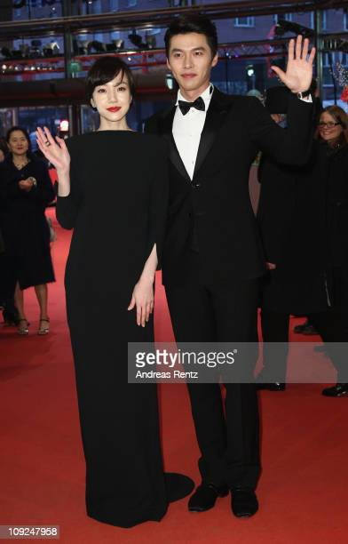 Korean actor Bin Hyun and actress Soojung Lim attend the 'Saranghanda Saranghaji Anneunda' Premiere during day eight of the 61st Berlin International...