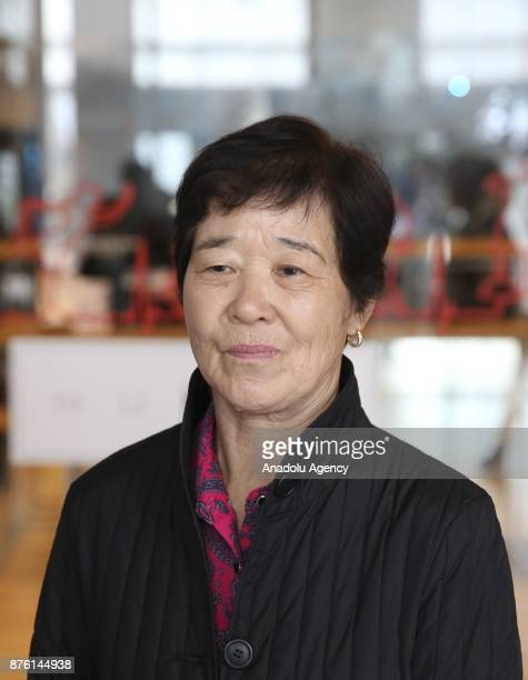 Korean actress Eunja Kim player from the Turkish Movie Ayla poses during an exclusive interview with the Turkish semiofficial news Agency Anadolu...