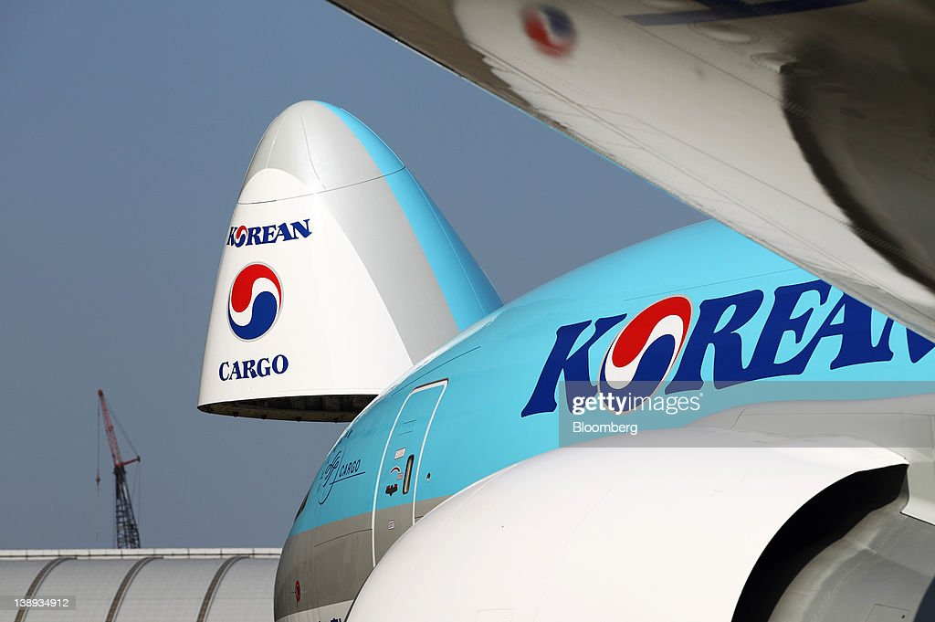 A Korean Air Lines Co. Boeing Co. 747-8 freighter with an open & First Delivery Of 747-8 And 777 Freighters To Korean Air Photos ... pezcame.com