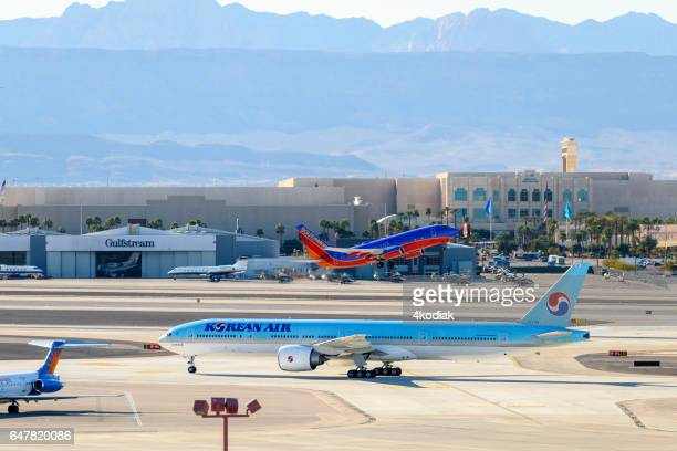 Korean Air taxing in Las Vegas